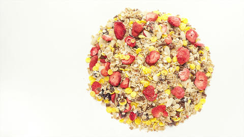 Mixed Muesli stock footage