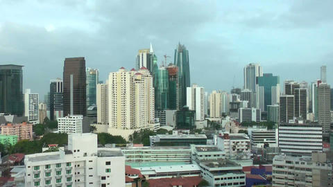 View Of The Skyscrapers Of Panama City, In Central stock footage