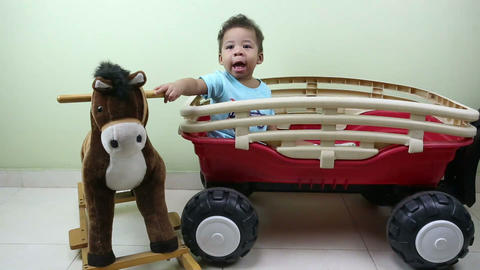 Baby playing with toys Stock Video Footage