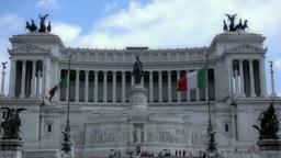 Altare Della Patria Italy Rome 25fps stock footage