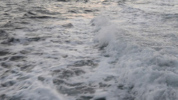 Boat Wake And Splash stock footage