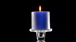 VID 71 Blue Candle HD stock footage