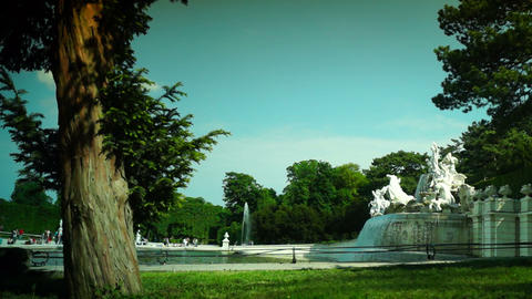 Imperial Gardens at Vienna's Schonbrunn Stock Video Footage