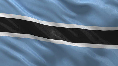 Flag of Botswana seamless loop Stock Video Footage