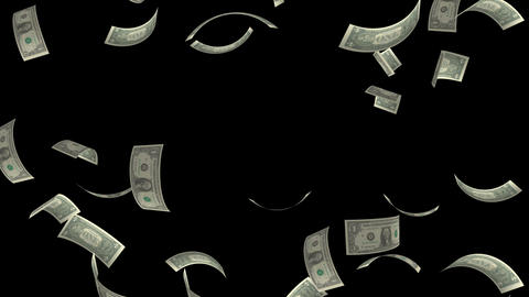 dollar bill disperses Animation