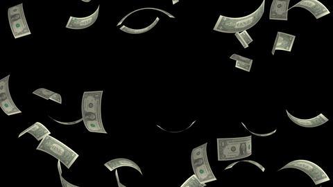 dollar bill disperses Stock Video Footage