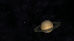 Animation of the Planet Saturn Animation