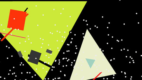 Kandinsky Shapes Animated 01 - Alpha Included Footage