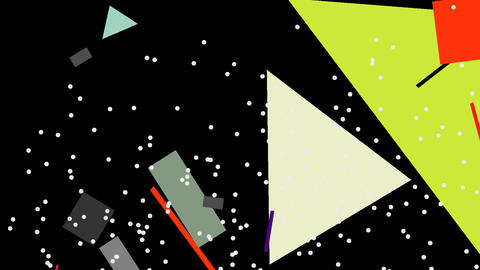 Kandinsky Shapes Animated 01 - Alpha Included Stock Video Footage
