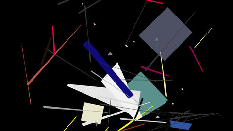 Kandinsky Shapes Animated 03 - Alpha Included Footage