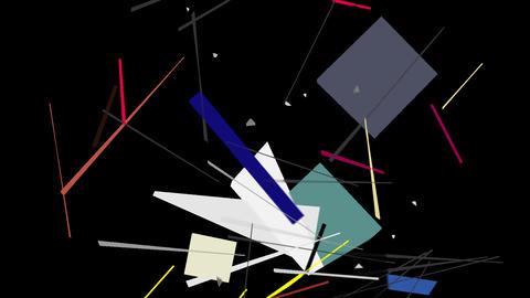 Kandinsky Shapes Animated 03 - Alpha Included ビデオ