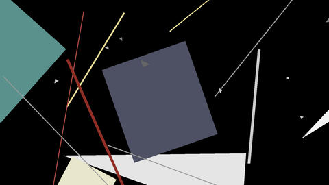 Kandinsky Shapes Animated 05 - Alpha Included Footage