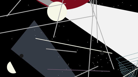 Kandinsky Shapes Animated 07 - Alpha Included Stock Video Footage