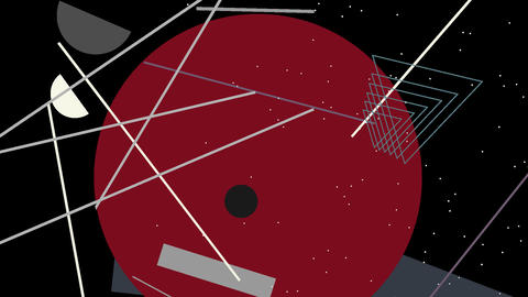 Kandinsky Shapes Animated 07 - Alpha Included Footage