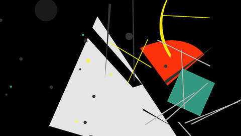 Kandinsky Shapes Animated 09 - Alpha Included Footage