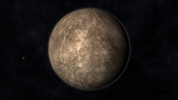 Animation of the Planet Mercury Stock Video Footage