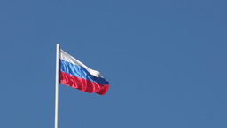 State flag of the Russian Federation is fluttering Footage