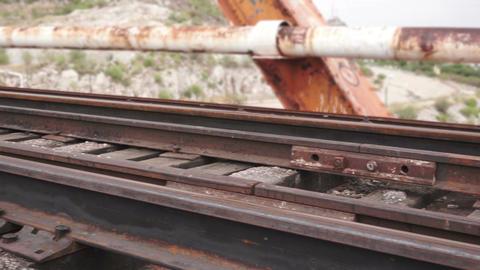Train Bridge Pan Across Stock Video Footage
