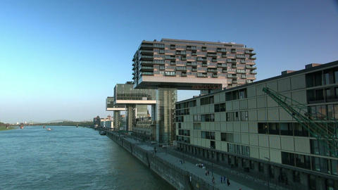Modern Building In Cologne / Koeln - Skyline stock footage