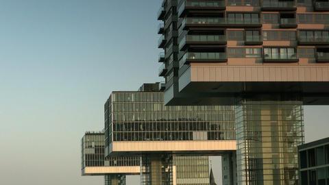 Modern building in Cologne / Koeln - Skyline Stock Video Footage