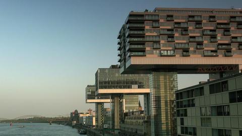 Modern building in Cologne / Koeln - Skyline ビデオ