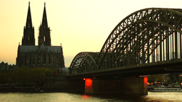 Hohenzollern bridge in Cologne.Germany Stock Video Footage