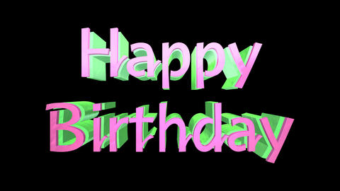 Happy Birthday Logo Stock Video Footage