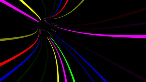 Tunnel Neon Tube AS 1 4k Animation