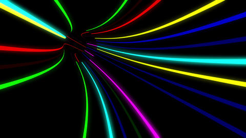 Tunnel Neon Tube AL 1 4k Animation