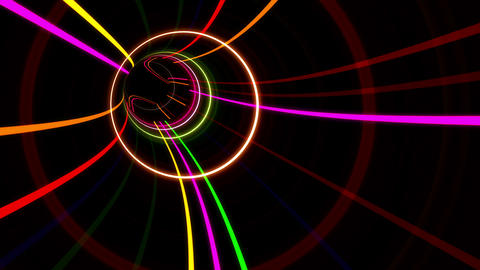 Tunnel Neon Tube AS 3 4k Animation