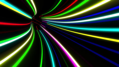 Tunnel Neon Tube AL 2 4k Animation