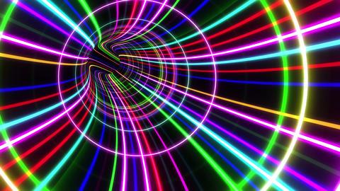 Tunnel Neon Tube BS 2 4k Animation
