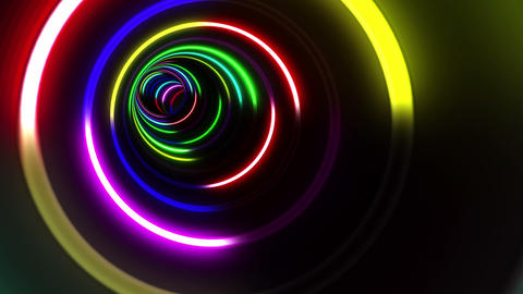 Tunnel Neon Tube CS 1 4k Animation