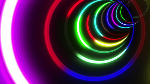 Tunnel Neon Tube CS 1 4k Stock Video Footage