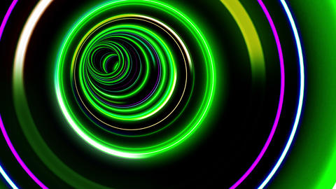 Tunnel Neon Tube CL 3 4k Animation
