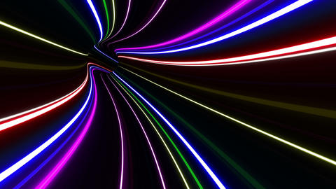 Tunnel Neon Tube DL 2 4k Animation