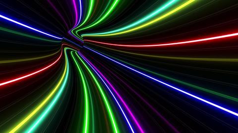 Tunnel Neon Tube EL 1 4k Animation