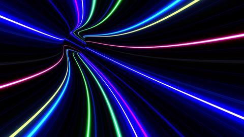 Tunnel Neon Tube EL 3 4k CG動画