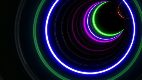 Tunnel Neon Tube GS 1 4k Animation