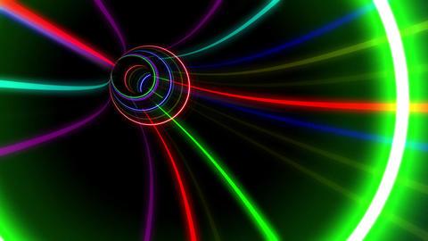 Tunnel Neon Tube GS 2 4k Animation