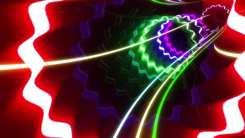 Tunnel Neon Tube WL 2 4k Animation
