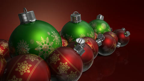 christmas baubels colour pan Animation