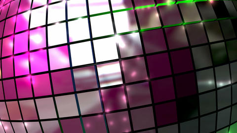 disco ball closeup front animation Animation