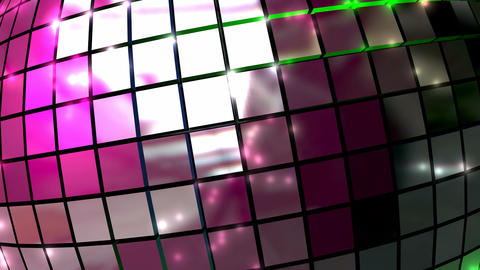 disco ball closeup front animation Stock Video Footage