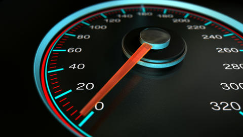 Speedometer Accelerate Pan stock footage