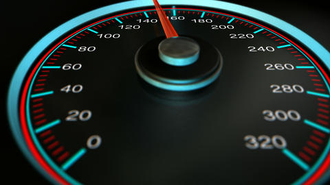 speedometer accelerate pan Stock Video Footage