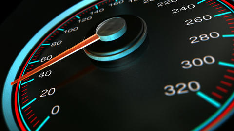 speedometer accelerate pan 2 Stock Video Footage