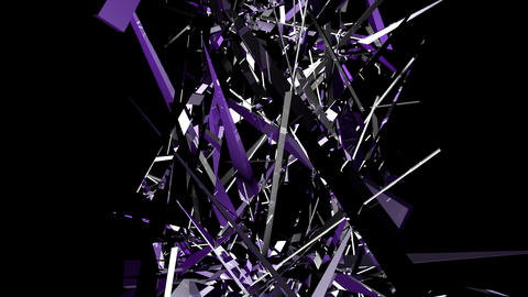 shards of tinted glass elevate and intertwine upwa Stock Video Footage