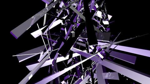 shards of tinted glass elevate and intertwine upwa ビデオ