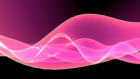 4k Abstract pink light curve,satin ribbon&soft silk... Stock Video Footage
